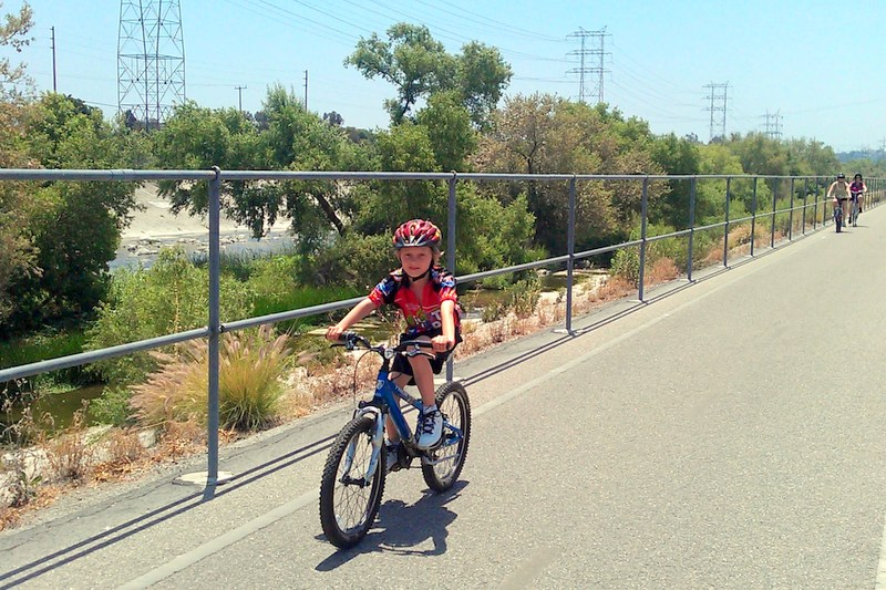 Riding along bike path on Family Ride