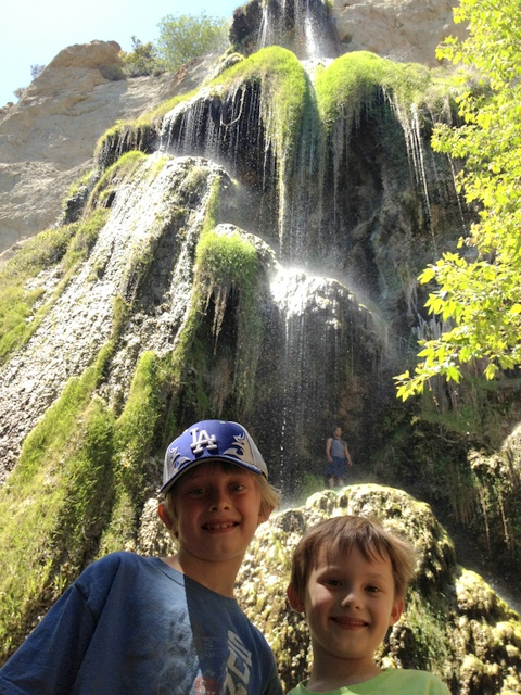 The second waterfall in Escondido Canyon