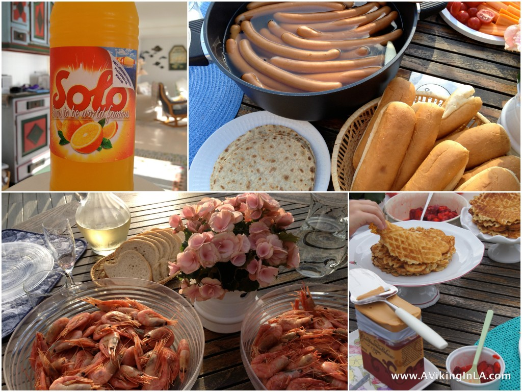 Norwegian Foods Solo, hot dogs, shrimp, waffles