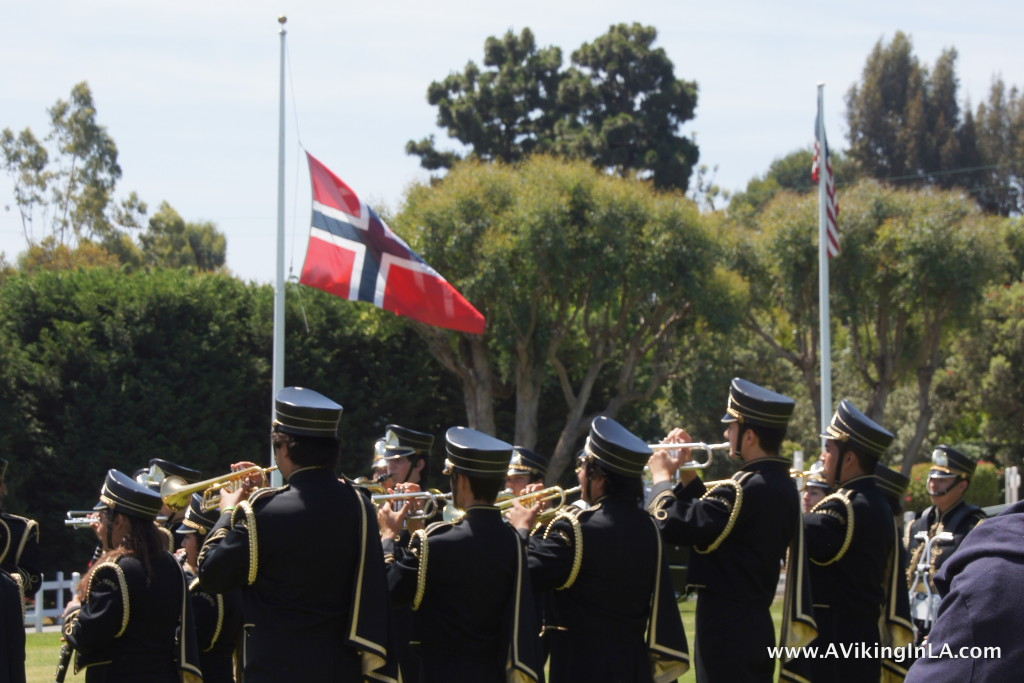 Nansen Field Raising of the Flags
