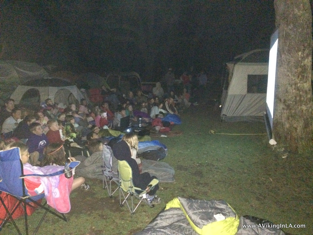 Movie at Campground