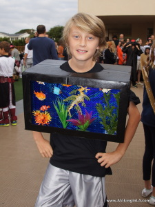 Aquarium costume at school