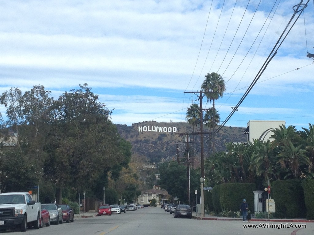 The view as we drove up Beachwood Canyon Drive, approaching what we thought would be the start of our hike