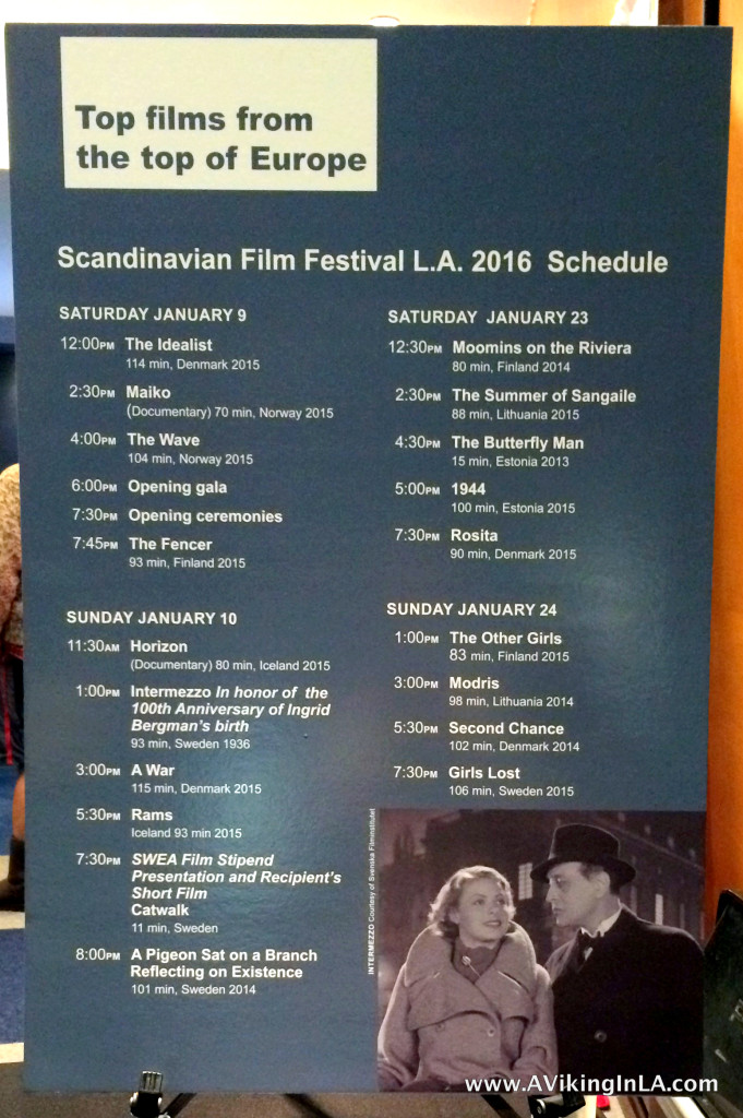 Schedule at SFFLA