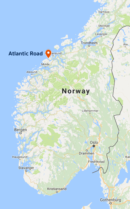 Checked Off My Norway Bucket List Drive The Atlantic Road A - Norway map haugesund